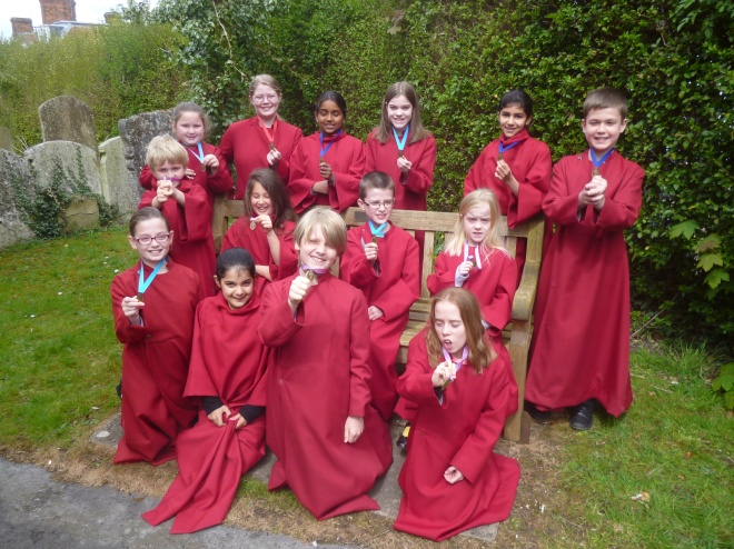 Y.E.S!  in the churchyard at St. Eth's April 2016